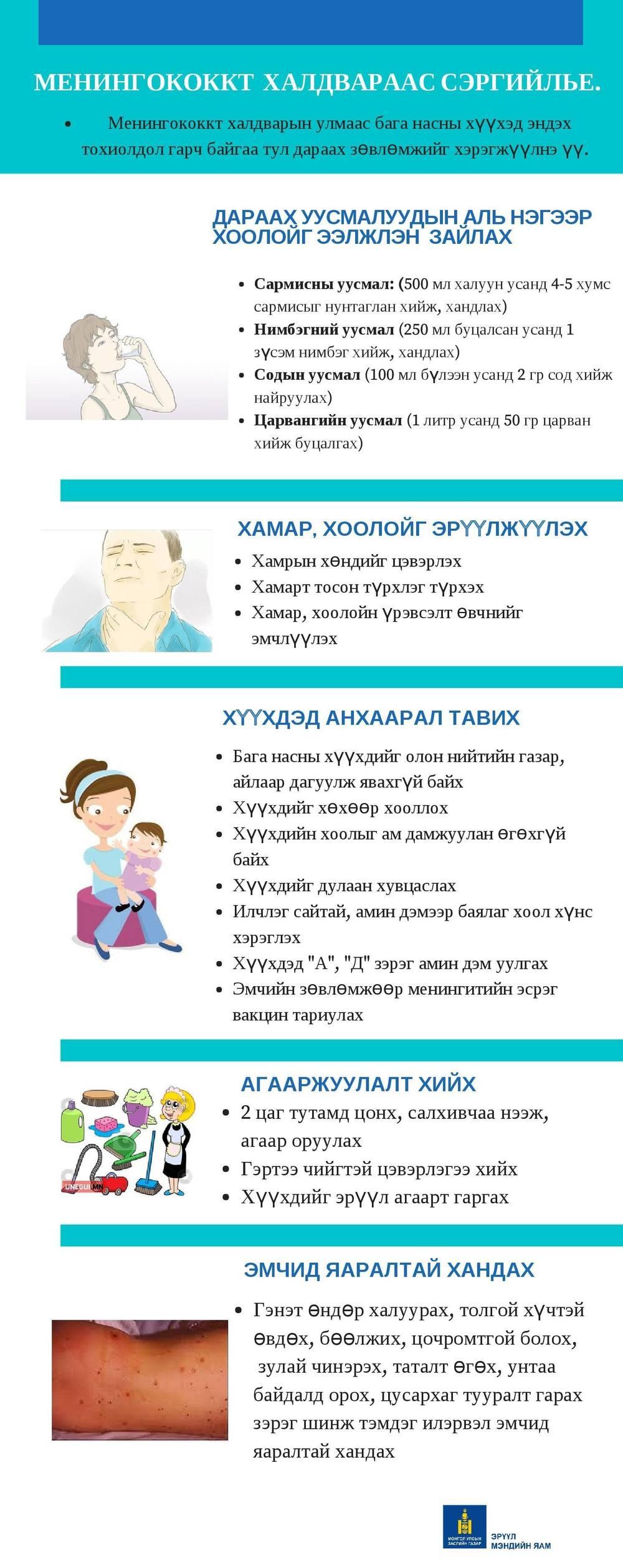 Менингококкт халдвараас сэргийлье