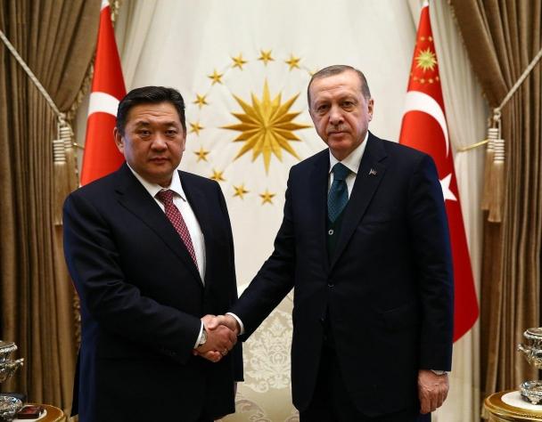 УИХ-ын дарга М.Энхболд Турк Улсын Ерөнхийлөгч Р.Т.Эрдоанд бараалхлаа